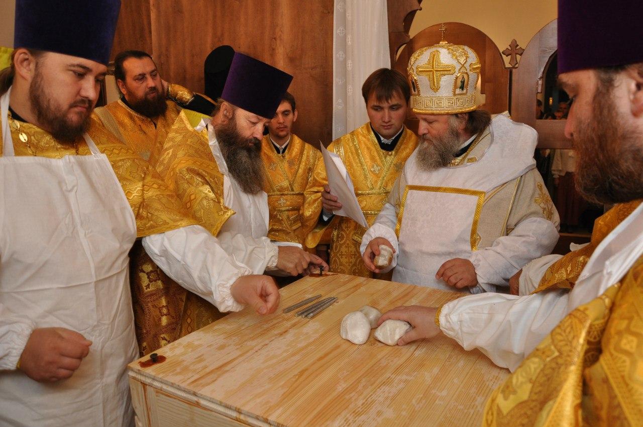 освященние крестильного храма